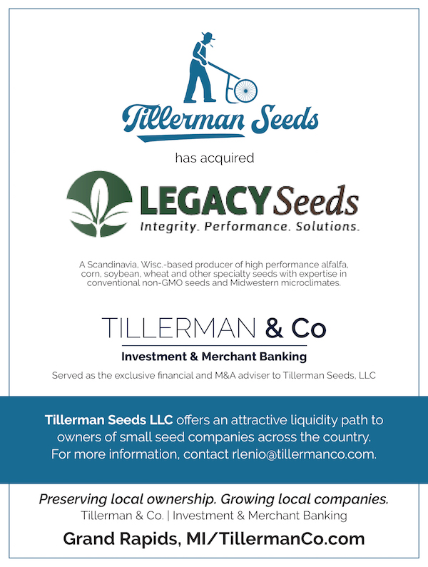 Tillerman Seeds Acquires Legacy Seeds